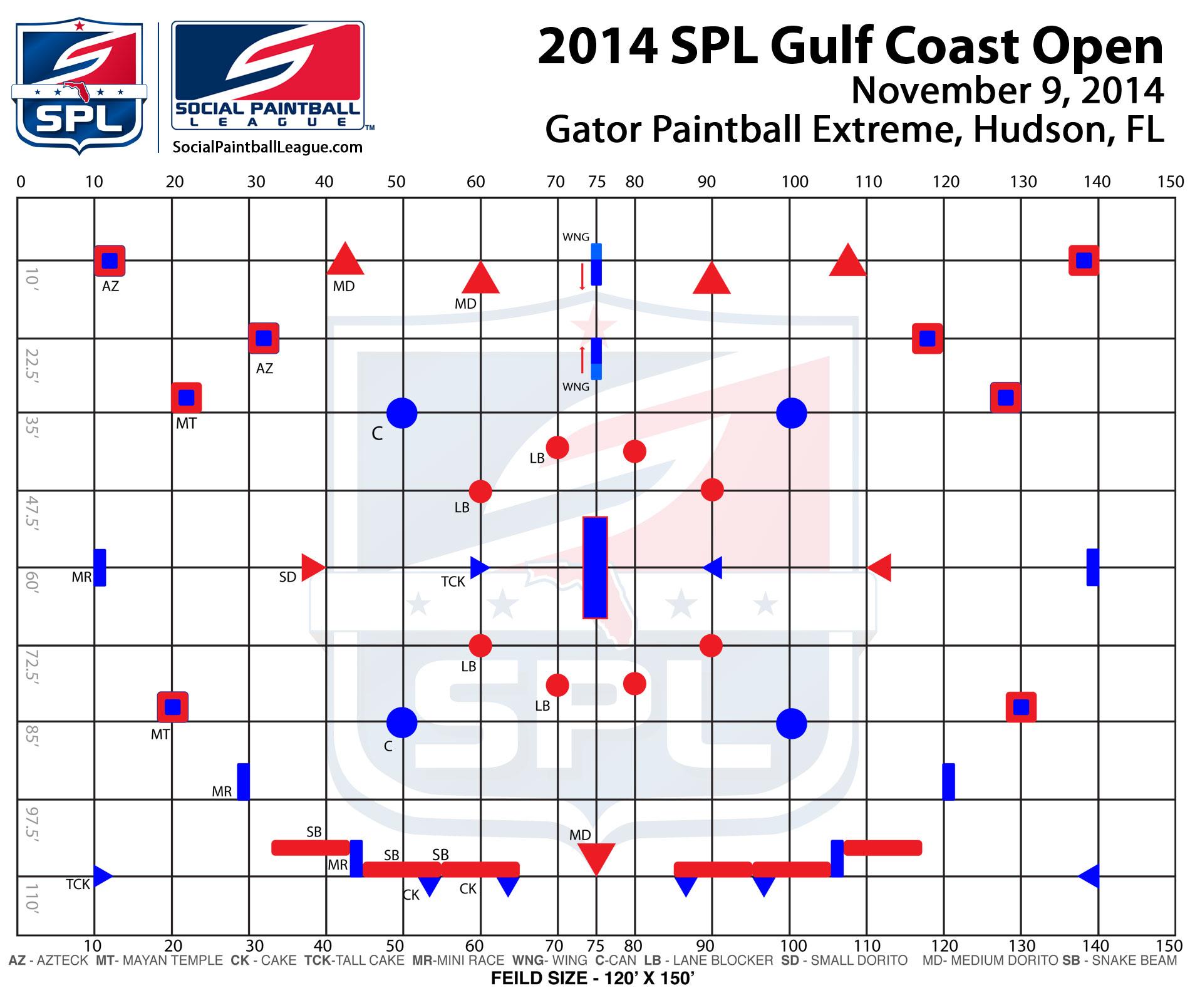 2014 SPL Gulf Coast Open layout