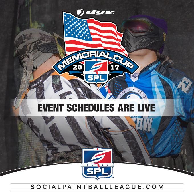 2017 SPL Dye Memorial Cup Event Schedule