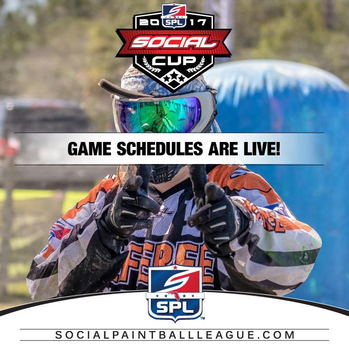2017 SPL Social Cup Event Schedule