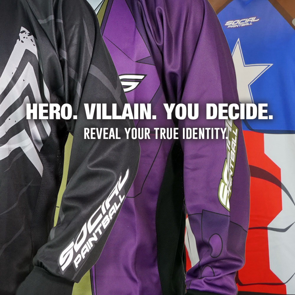 Social Paintball Hero Villain Jerseys